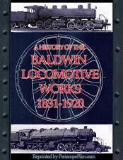 1920 BALDWIN STEAM ENGINE LOCOMOTIVE HISTORY BOOK
