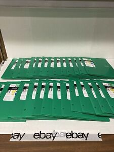 "Lot of 26 Mead Five Star 2 Pocket Folders 11.75""x9.5"" Green"