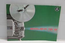 Bolex 18-5 Super Projector Sales Brochure Booklet - English - Green USED B82 VG