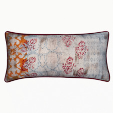 Cushion cover with INSERT Moncur Red Piping Navy Back 35x70cm RRP $ 78.95