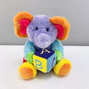 "Aurora Baby Elephant Musical Plush 9"" ABC Song Colorful Stuffed Animal"