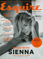 UK ESQUIRE Magazine SIENNA MILLER David Gandy Jon Kortajarena Jack Huston 03/14