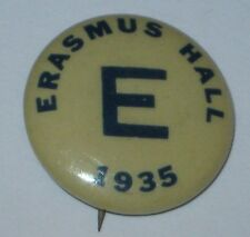 Erasmus Hall High School Brooklyn NY 1935 Pin
