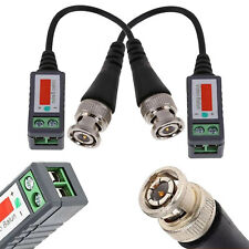 Pair of Passive Video Balun BNC Camera Connector Coaxial CAT5 Cable Adapters UK
