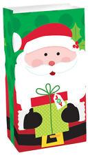 Neuf Père Noël Papier Sacs à Friandises 29cm X 12cm X 8cm