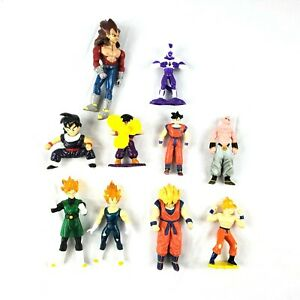 Dragon Ball Z 10 Action Figure Lot 2000 2002 2004 Fun Jakks Burger King Goku