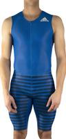 ADIDAS Men's Adizero Blue Compression Running AZ SLV Sleeveless Large