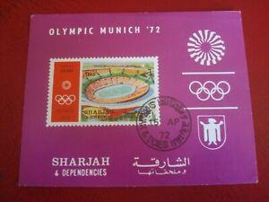 SHARJAH - 1972 OLYMPIC STADIUM - MINISHEET UNMOUNTED USED MINIATURE SHEET