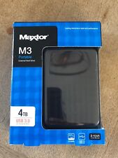 NEW - Maxtor M3 4TB USB 3.0 Portable External Hard Drive (PS4 / Xbox Compatible)
