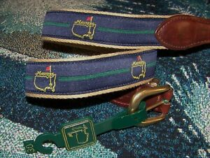 NEW Embroidered Ribbon Leather Belt MASTERS AUGUSTA NATIONAL GOLF CLUB Size 30