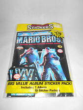 SUPER MARIO BROS MOVIE SEALED STICKER ALBUM WITH 10 PACKS 1993 NINTENDO