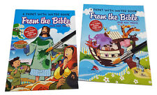 From the Bibe Religious Christian Paint with Water Books Book Gift Set of 2 NEW