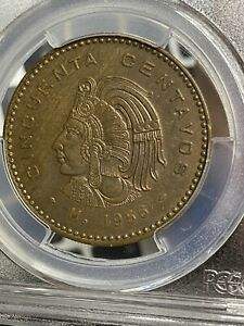 1956 (Cincuenta Centavos) 50 Cent Mexican Rare Coin PCGS AU58 + $1895 Bills Peso