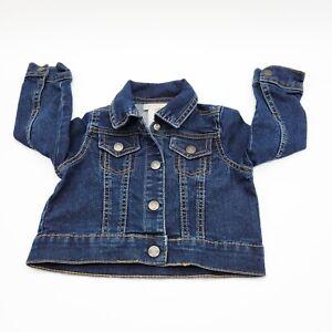 Wonder Kid Toddler Girl Jean Jacket 2T Blue Denim Dark Wash Pockets Collar