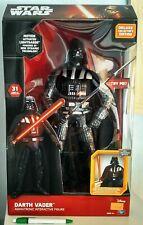 "Darth Vader Star Wars animatronic interactive 45 cm 18"" Thinkway Toys - NISB"