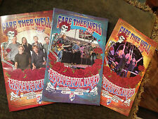 Grateful Dead 2015 Fare Thee Well Chicago Tour Pamphlet Program Lot -All 3 -2016