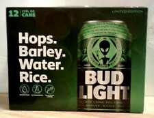 Bud Light Alien Area 51 Alienstock 12 Pack Empty Can s Beer Carton Box Bonus Ltd