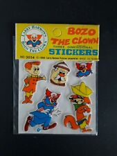 1980 Puffy Sticker Sealed/Mint Bozo The Clown 5/6 M
