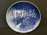 Bing & Grondahl Denmark Christmas In Church 1968 Collector Plate Jule Aften