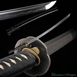 Sharp Japanese Battle Samurai Sword Katana T10 Steel Blade w Clay Tempered #2310