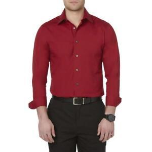 Structure Men's Slim Fit Dress Shirt Devil Red NWT