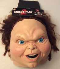 TRICK OR TREAT STUDIOS CHILD'S PLAY 2 CHUCKIE HALLOWEEN MASK NEW WITH TAGS