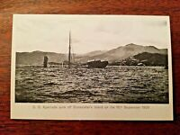S.S. APENRADE sunk off Stonecutters Island Hong Kong Typhoon 1906 PostCard #12