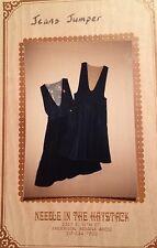 Jeans Jumper or Dress Sewing Pattern  UNCUT VINTAGE  Using Jeans Unusual