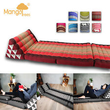 LARGE 3 FOLDS Thai Triangle Cushion Triangular Pillow Foldout Daybed Mattress