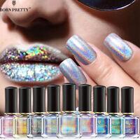 Holographic Nail Polish Glitter Laser Nail Art Manicure Varnish BORN PRETTY 6ml