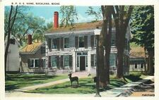 1920s Elk's Home BPOE Home ROCKLAND MAINE postcard 585