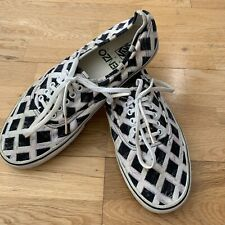 Kenzo x Vans Marble Pack Trainers, Size Men's UK 11, Black & White Check