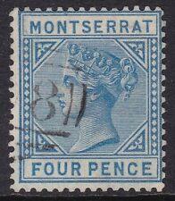 """MONTSERRAT 1880 """"CC"""" 4D BLUE, FINE USED, CAT £32"""