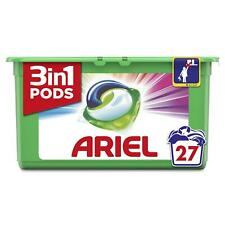 Ariel 3 in 1 Wasch Polster Farbe HD Wäsche Waschmittel Liquid Kapseln - 27