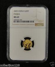CHINA Gold Coin 20 Yuan 2005, Panda, NGC MS 69