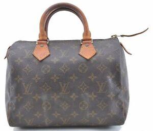 Authentic Louis Vuitton Monogram Speedy 25 Hand Bag M41528 LV B8910