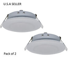 Facon 2 pcs RV 12v LED 4.5inch Puck Recessed Down Light Camper Trailer Motorhome