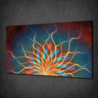 FRACTAL SUN ABSTRACT CANVAS WALL ART PRINT POSTER PICTURE READY TO HANG