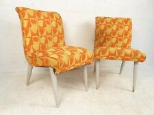Pair Funky Mid-Century Side Chairs (3956)NJ