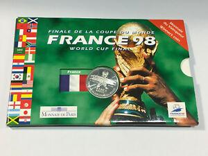 Monnaie FRANCE 5 Francs Coupe du Monde de Football 1998 ARGENT