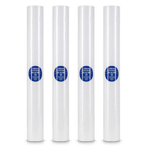 """4 Sediment Water Filters - Whole House, RO Systems, Hydroponics, 2.5"""" x 20"""" 5 μm"""