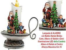 LAMPADA di ALADINO con CANDELA a LUCE LED TREMOLANTE ALBERO BABBO NATALE 834X042