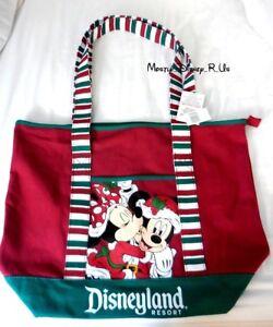 New Christmas Holiday 2015 Disneyland Resort Canvas Hobo Tote Bag Shoulder Purse