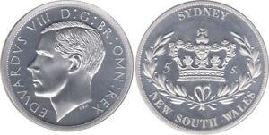 Australia: King Edward VIII Sydney NSW piedfort silver plated copper  Mintage 12