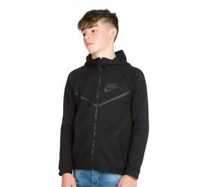 Junior Nike Sportswear Tech Fleece WR Black Hooded Top (NAH1) RRP £64.99