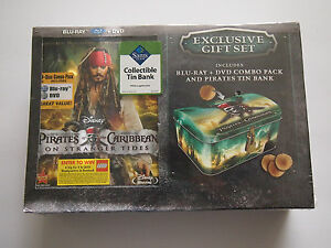 Pirates of the Caribbean: On Stranger Tides EXCLUSIVE GIFT SET DVD & BLU RAY HTF
