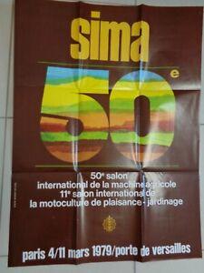 Affiche 1979 SALON MACHINE AGRICOLE SIMA ( ref 35 )