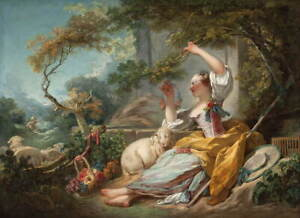 Jean Honore Fragonard The Shepherdess Poster Reproduction Giclee Canvas Print