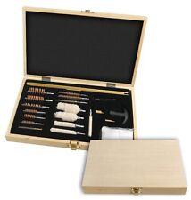 76 pc. Deluxe Gun Cleaning Kit Set Rifle Shotgun Wood Case Supplies Brushes Rod