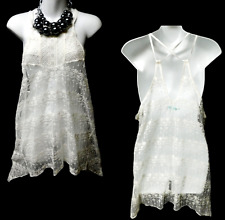 Maurices white floral see through plus size tank top XXL